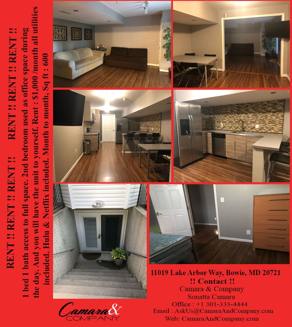 Room For Rent-11019 Lake Arbor Way Bowie MD 20721