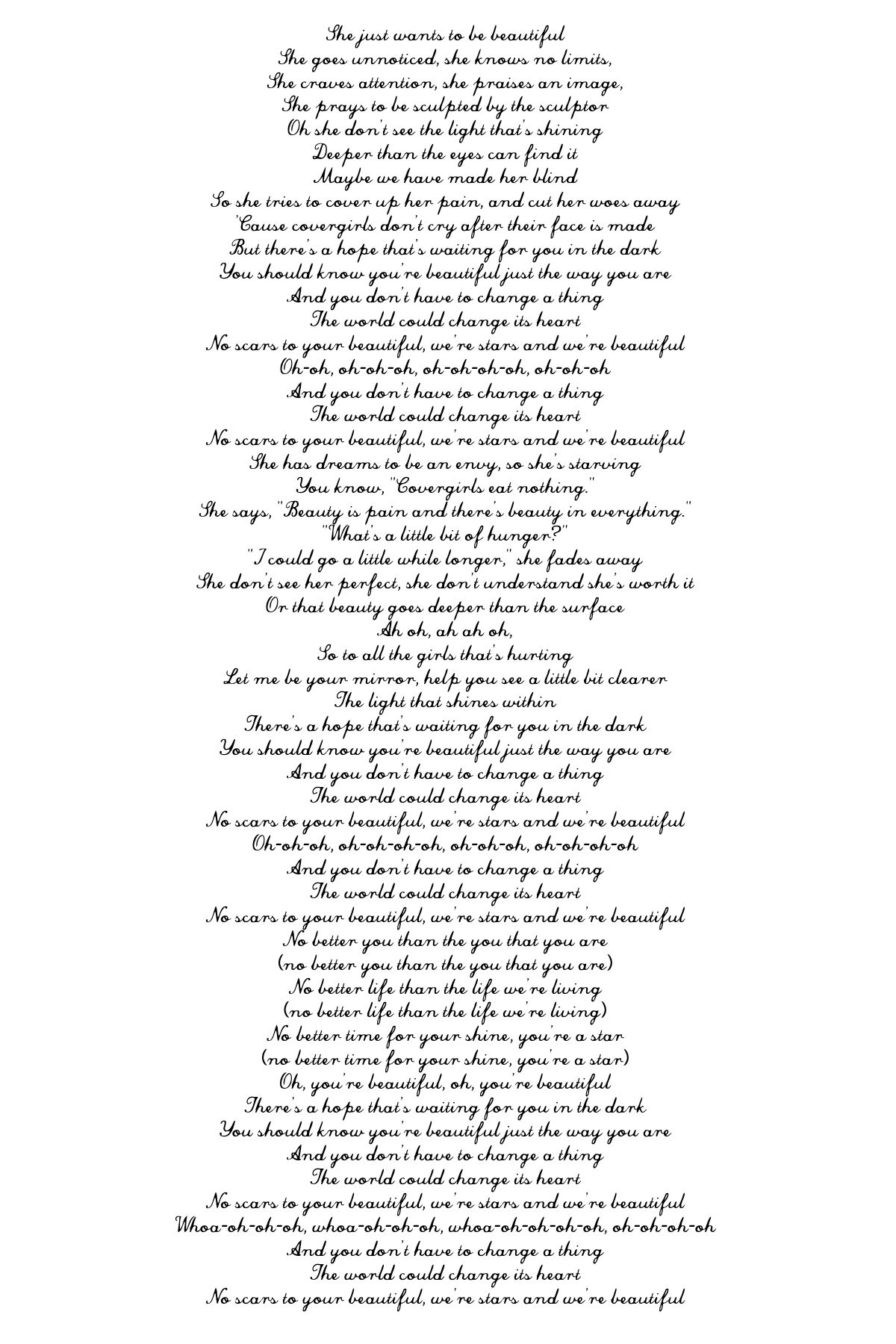 Lyrics To Scars To Your Beautiful By Alessia Cara Quotes Lyrics