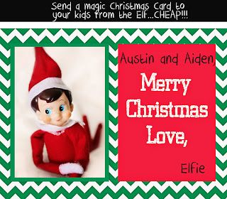Send A Letter From Your Elf To Your Kids Christmas Card Template Merry Christmas Love Christmas Cards