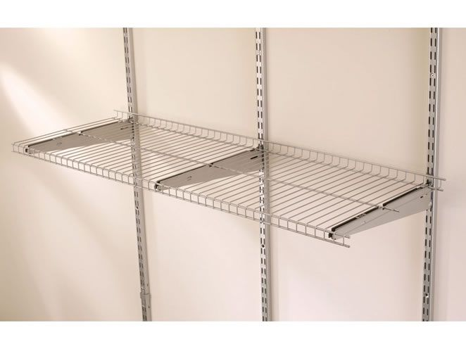 Fast Track Shelving From Rubbermaid Perfect For Your Attic Wire Shelving Garage Wall Shelving Shelves