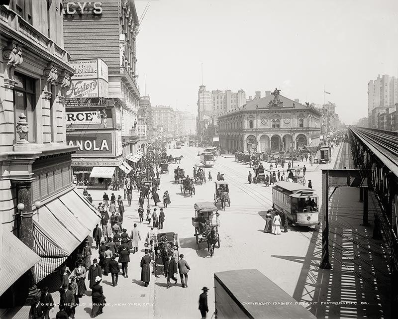 Herald Square, New York, c1903, Vintage Photo