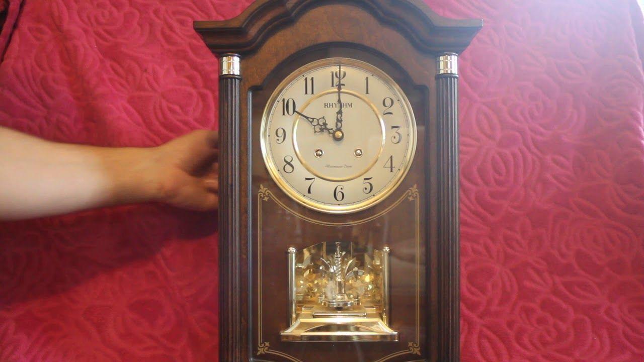 Vintage Rhythm Quartz Wall Clock With Westminster Ave Maria Chimes