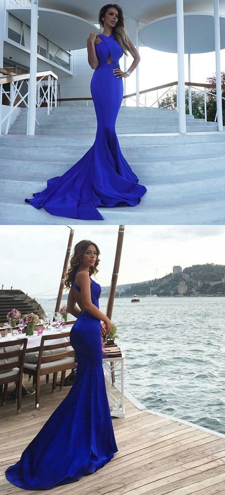 2018 Prom Dress Royal Blue Prom Dress Mermaid Long Prom Dress Elegant Royal B 1000 Backless Prom Dresses Prom Dresses Evening Dresses Prom