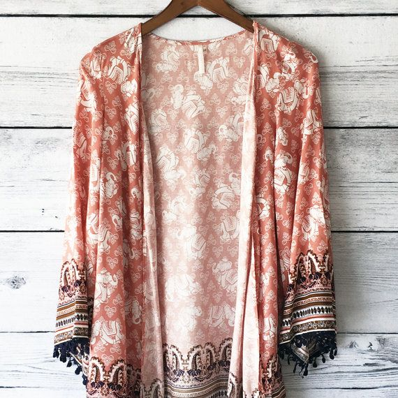 Hey, I found this really awesome Etsy listing at https://www.etsy.com/listing/246210114/womens-elephant-border-print-kimono-top