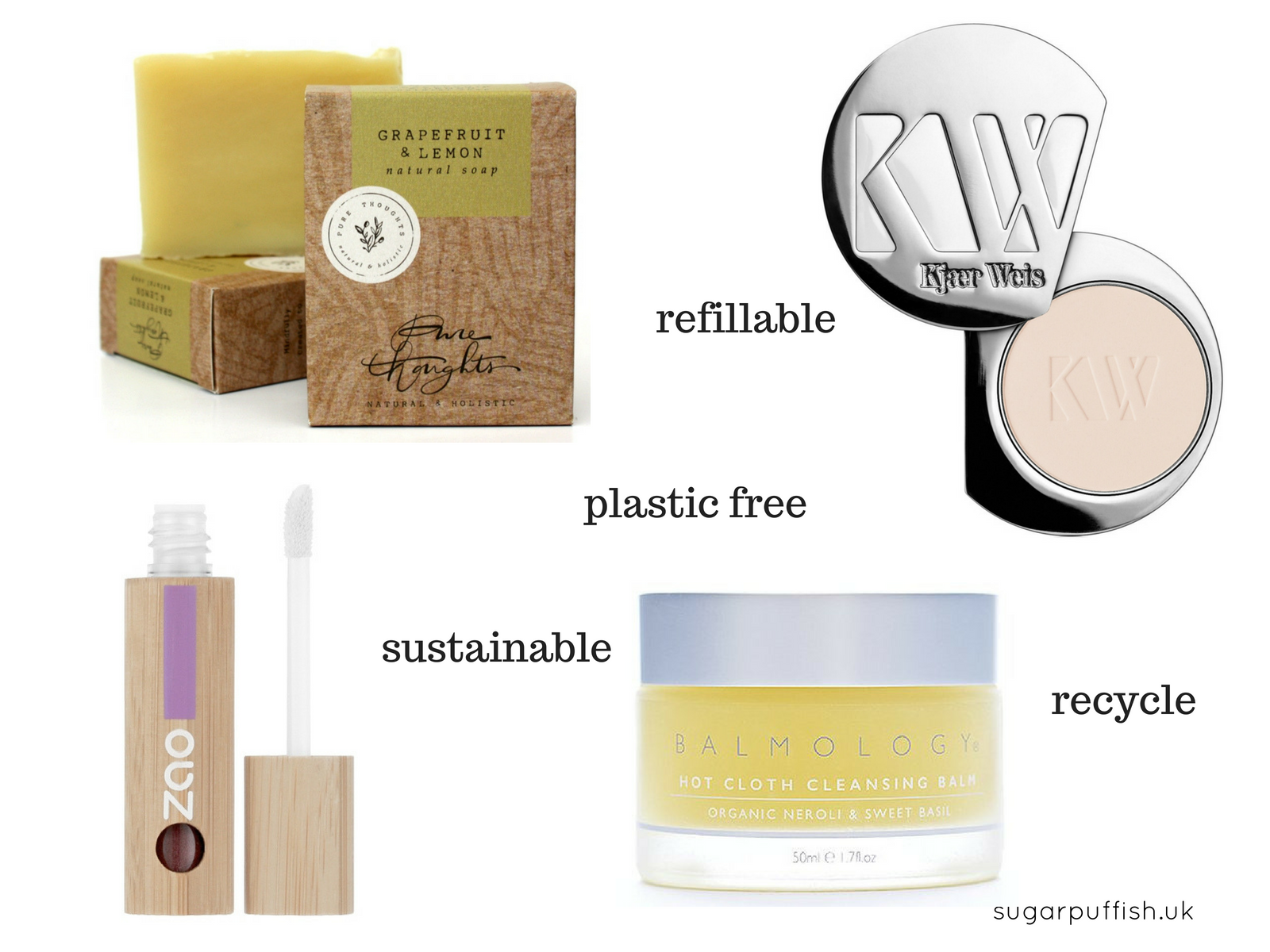 Natural Beauty Brands with Plastic Free or Zero Waste