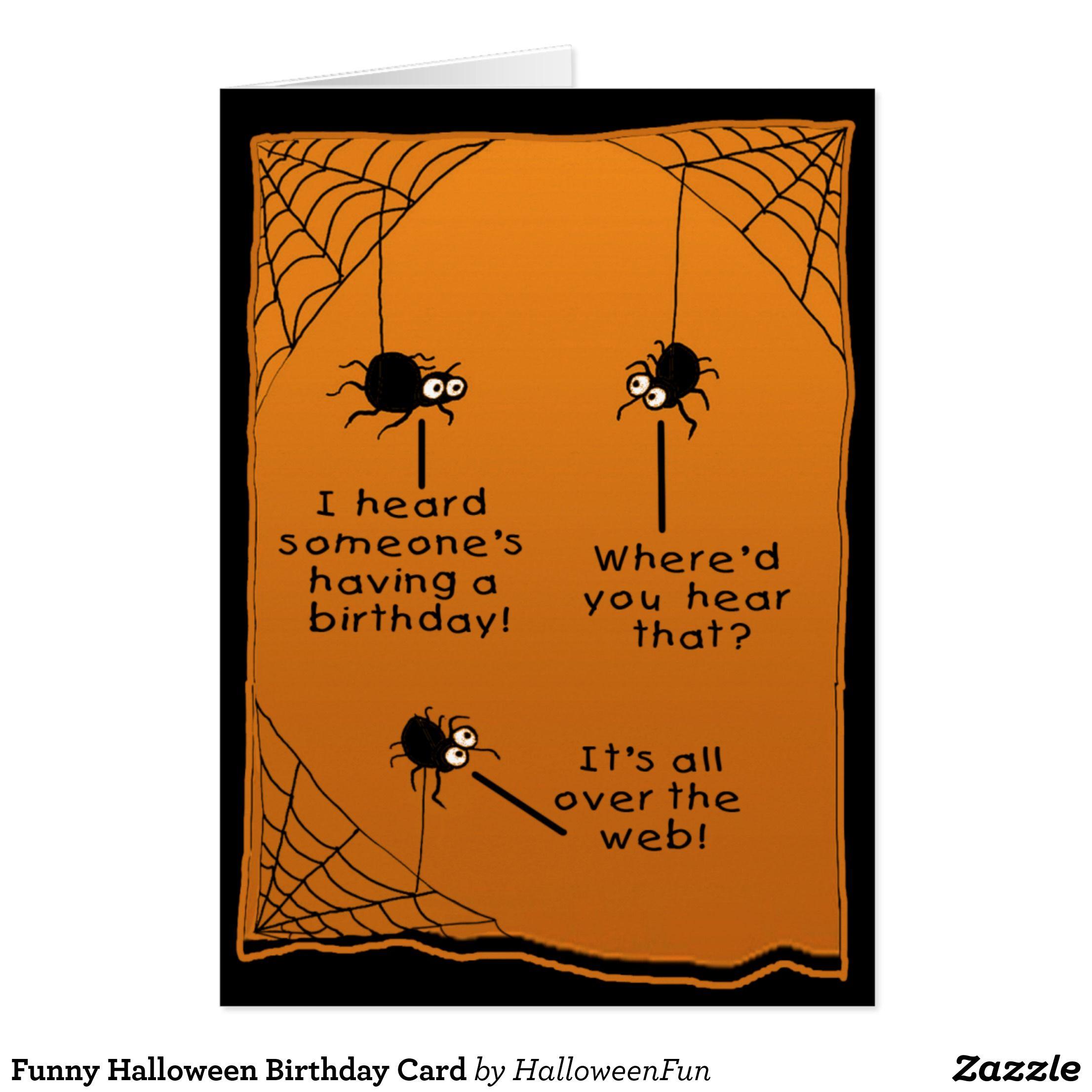 Funny Halloween Birthday Card Scrapbooking Pinterest Halloween