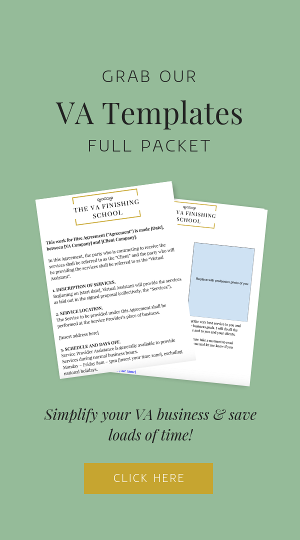 Templates To Get Your Virtual Assistant Business Up And Running And In Organized F Virtual Assistant Business Virtual Assistant Jobs Virtual Assistant Training