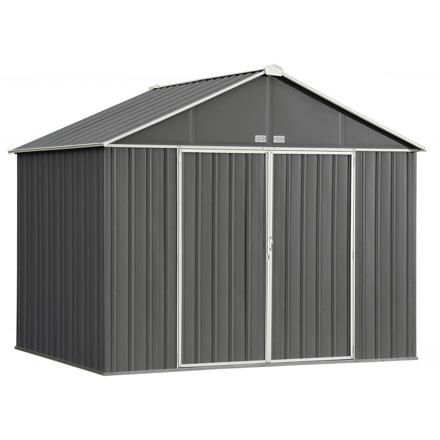 Arrow Common 10 Ft X 7 Ft Interior Dimensions 9 5 Ft X 6 5 Ft Ezee Shed Galvanized Steel Storage Shed Lowes Com In 2020 Steel Storage Sheds Steel Sheds Metal Storage Sheds