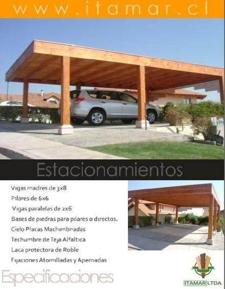 Cobertizos terrazas y pergolas santiago metropolitana de for Cobertizos de casas
