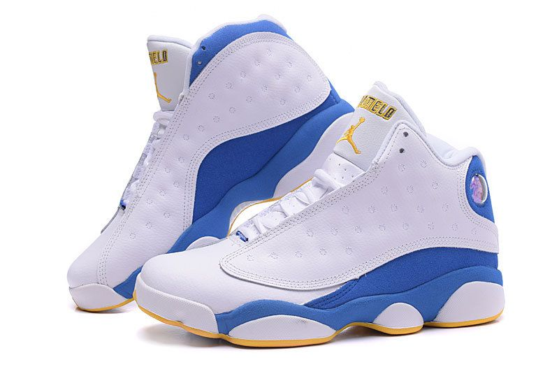 2a05d5e9464 ... buy nugget jordan 13 anthony white blue yellow shoes 94ae9 7467c