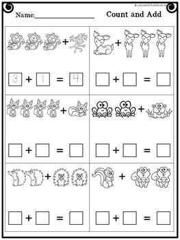 Addition Within 5 Preschool Math Worksheets Kindergarten Math Worksheets Math Worksheets