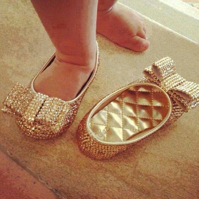 Aww.... cute little golden shoe!