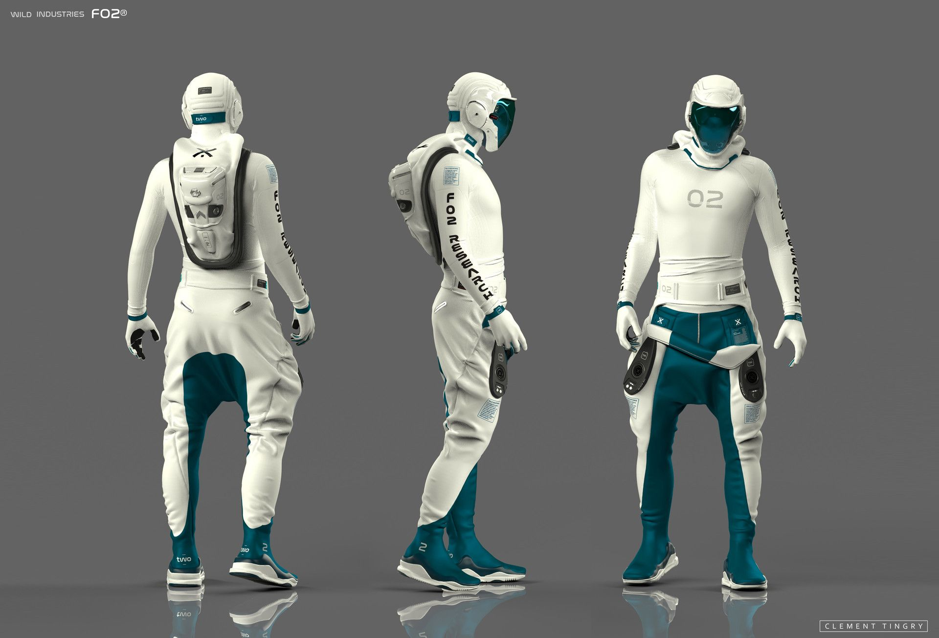 ArtStation - FO2 SpaceSuit SYSTEMS, Clement Tingry ...