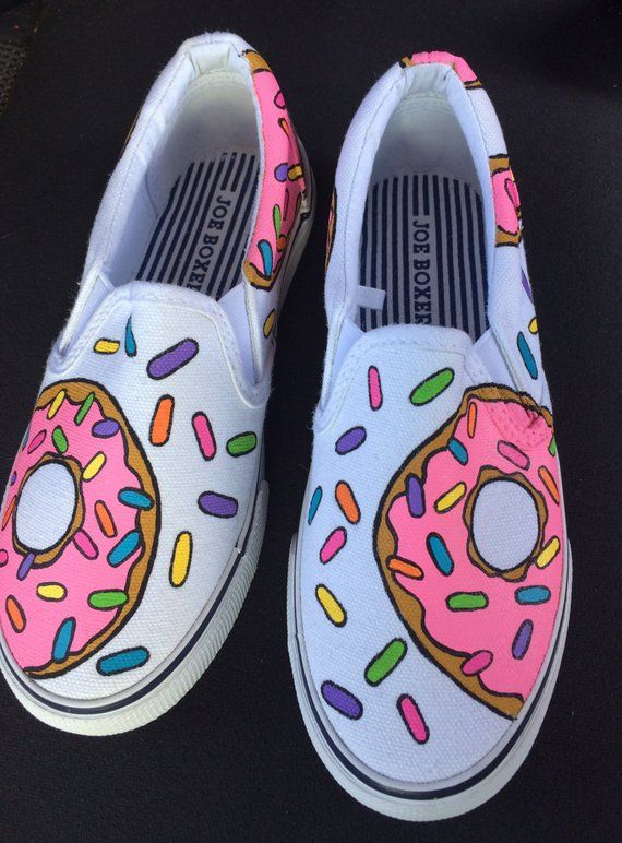 Donut VANS shoes - hand painted  0a797be3c