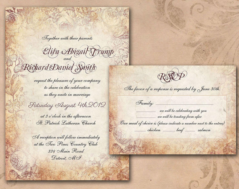 Wedding Invitations Cleveland: DIY PRINTABLE INVITATIONS Vintage Wedding