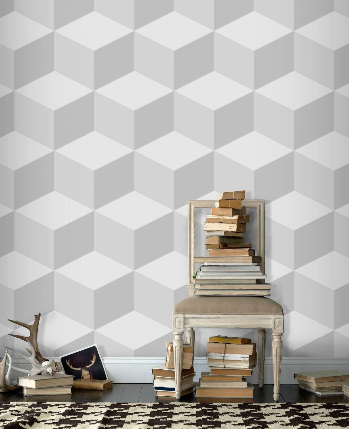 Geometri 3d Wallpaper Living Room With Ethnic Carpet Cool 3d ... for Cool Wallpaper Designs For Walls  568zmd