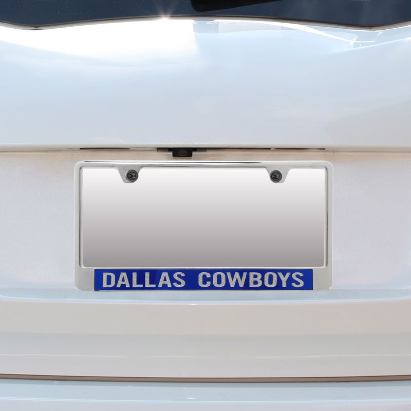 Dallas Cowboys Bottom Only Mirror License Plate Frame with Glitter ...