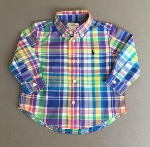 4892858546 Polo Ralph Lauren. Camisa cuadros de colores
