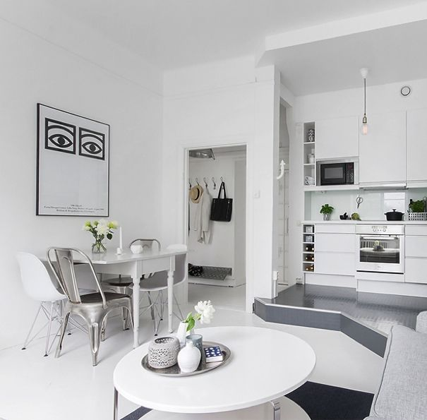 Fresh Living Room In A 40m2 Apartment