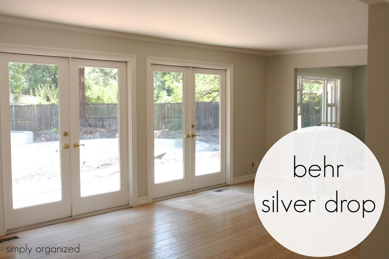 Simply Organized: My Home Interior Paint Color Palate (BEHR Silver Drop)