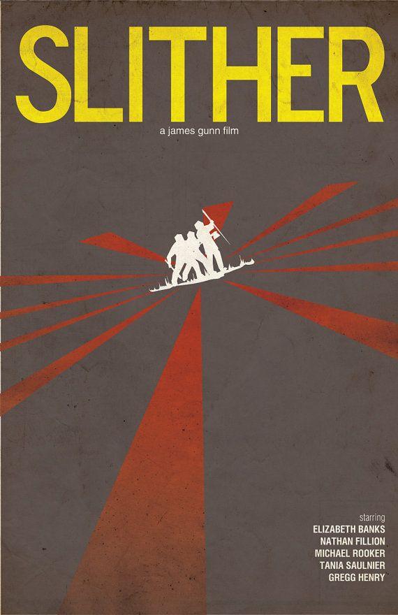 Slither Horror Movie Poster Don T Poke Meteorites Etsy Horror Movie Posters Retro Horror Movie Posters