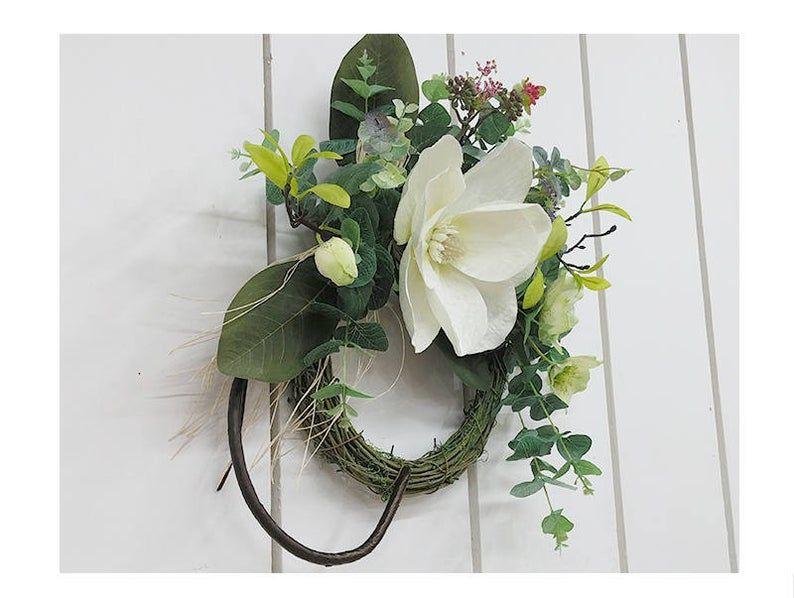 Photo of Artificial magnolia wreaths / Front door decor / Flower Wreath / Wedding Wreath / Home Decor Wreaths / Beautiful Wreath for Door