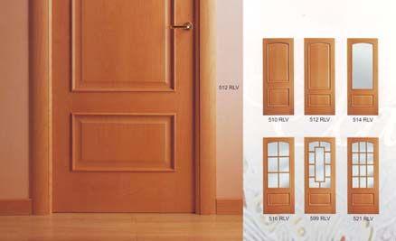 Puertas de interior cl sicas puertas y closets for Disenos de puertas de madera modernas