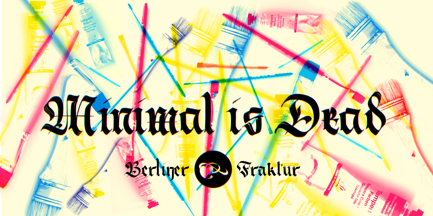 Berliner Fraktur font Preview