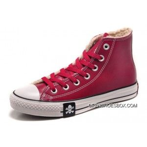 0e15480f25da ... inexpensive wine red converse leather velvet winter pirate skull chuck  taylor all star high tops sneakers