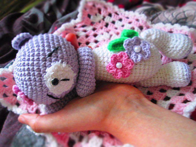 Sleeping teddy bear crochet pattern | Pinterest | Patrones de ...