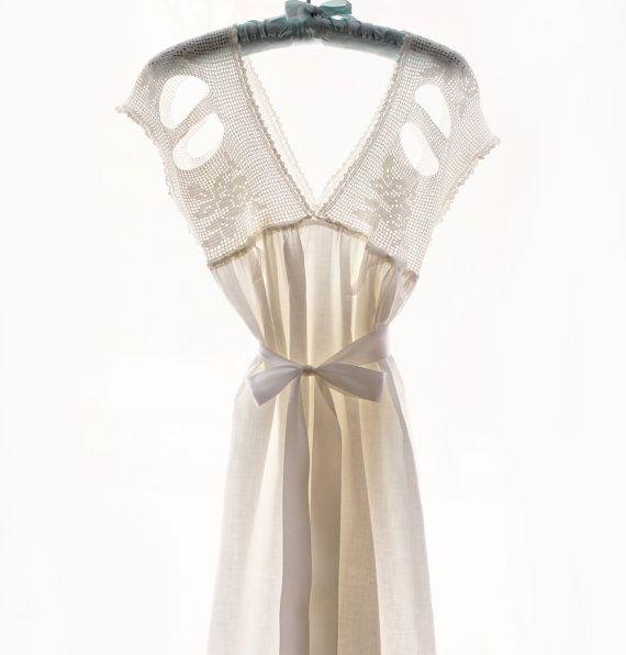 f30b88e1bf Antique Edwardian cotton slip or nightgown