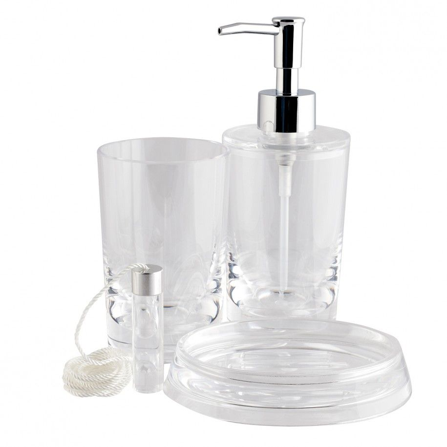 Acrylic Bath Accessories: The Shelves And Glasses : Elegant Classical Acrylic  Bathroom Set Bathroom Accessory