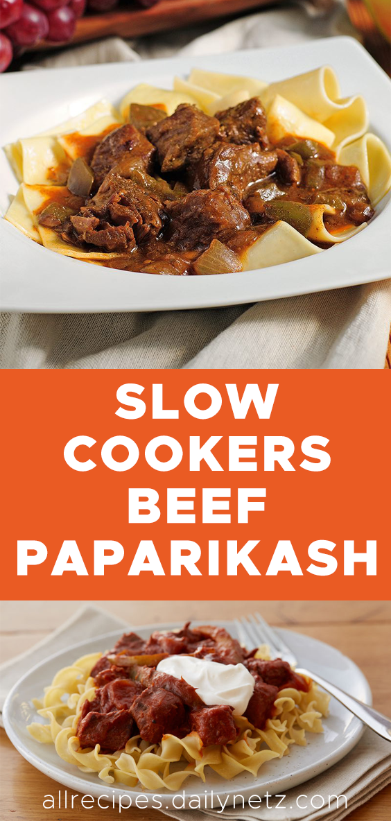 Slow Cookers Beef Paprikash Beef Goulash Slow Cooker Slow Cooker Recipes Beef Beef Paprikash Recipe