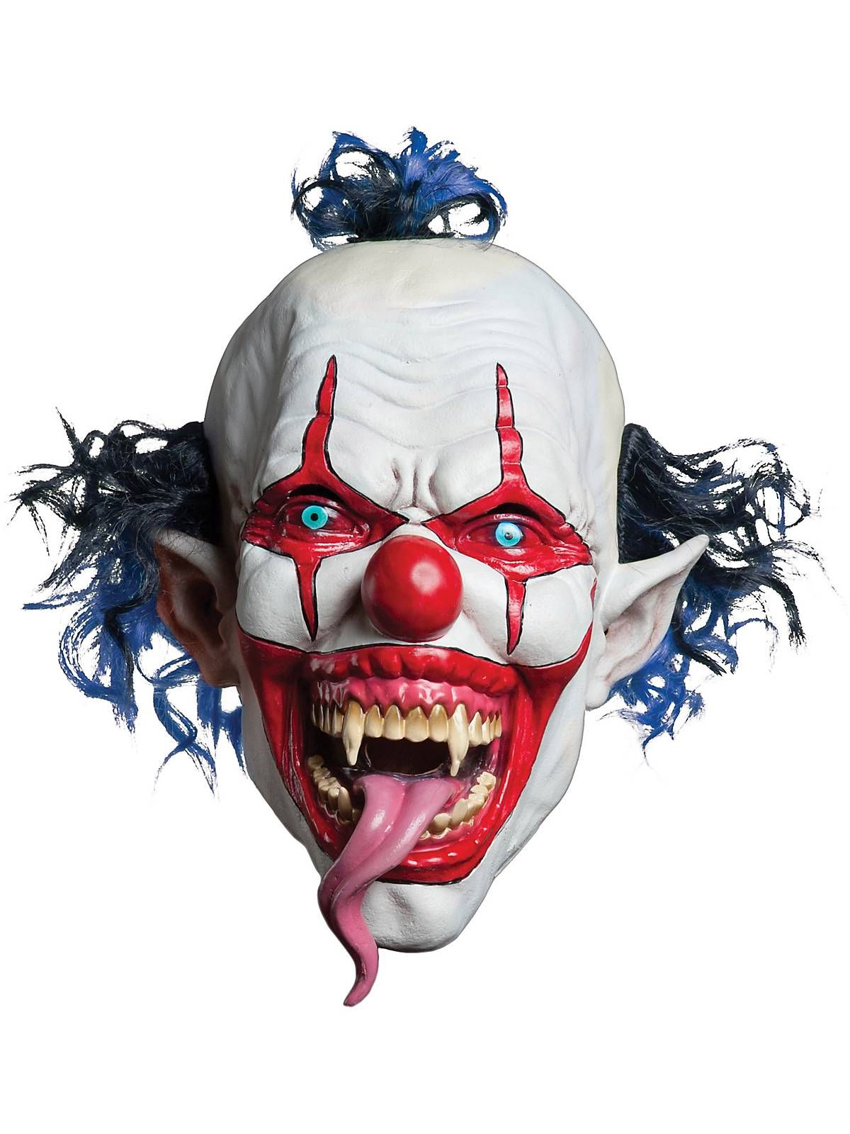 Lizard Tongue Evil Clown Mask | Horror Accessories at ...