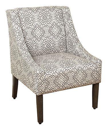 Tonal Gray Swoop Arm Accent Chair Zulily Zulilyfinds Accent
