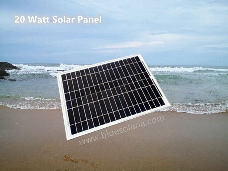 Bluesolaria S 20 Watt Solar Panel Is A 36 Solar Cell Assembly 18v Mounted Onto A Tpt Backplate And Covered With Rigid Tempered Glass Which Protect The Solar C In 2020