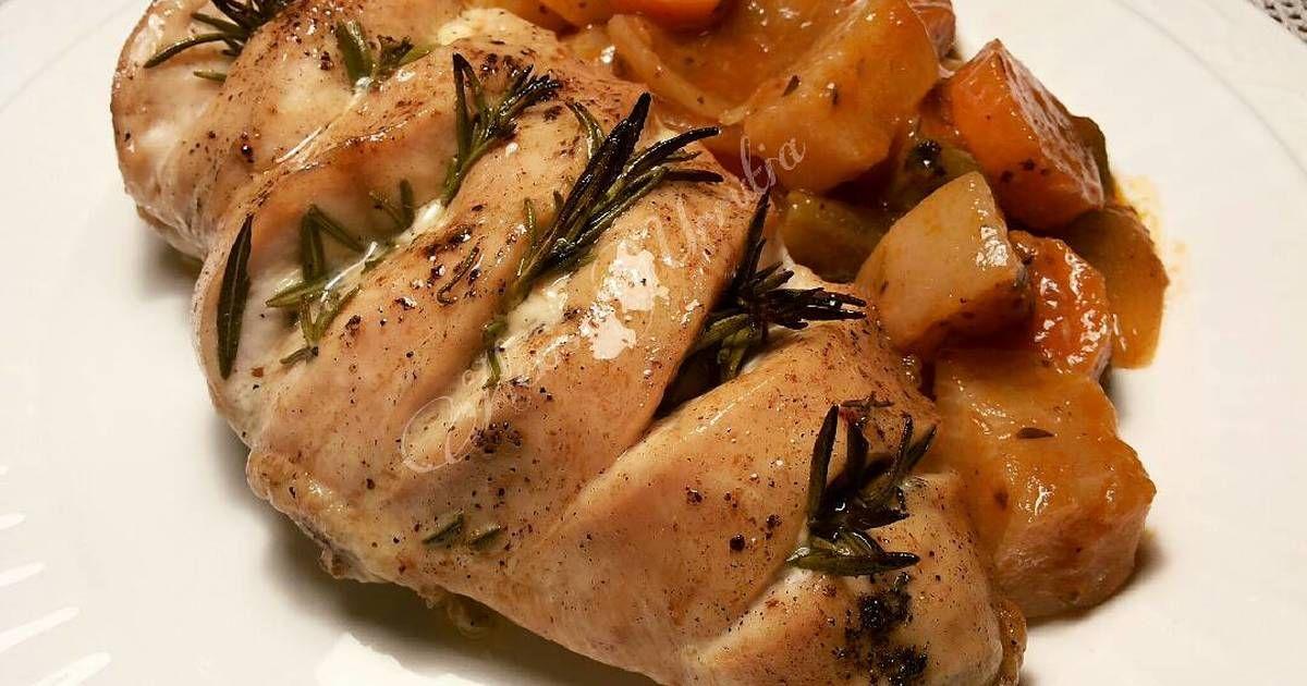 Fabulosa receta para Pechuga de pollo al horno, con romero y mantequilla.