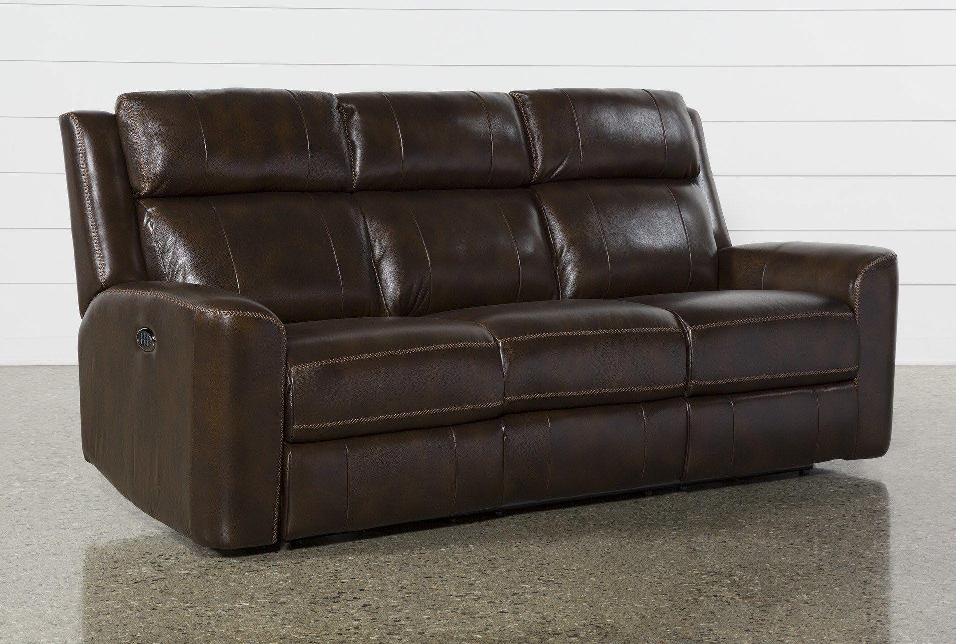 Stetson Leather Power Reclining Sofa W Power Headrest Lumbar Reclining Sofa Power Recliners Power Reclining Sofa