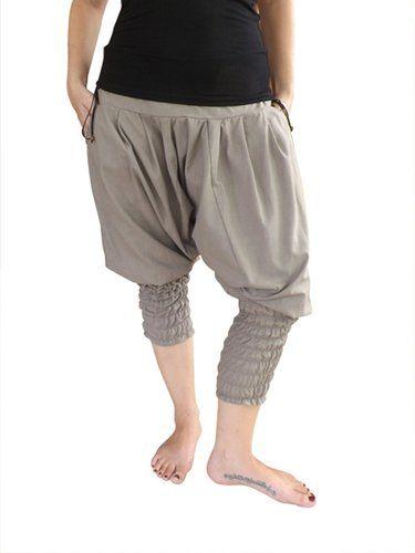 bonzaai harem trousers wide leg trousers harem pants hippy trousers genie pants Nimmerland grau