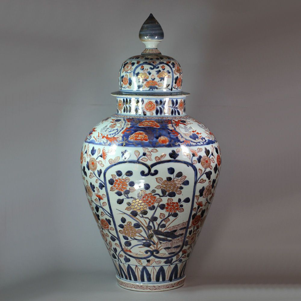 Large japanese imari baluster vase and cover 17th18th century large japanese imari baluster vase and cover 17th18th century reviewsmspy
