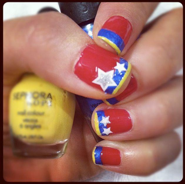 Uñas pintadas del mundial 2014 – 40 fotos #Brasil2014 Mundial Brasil ...