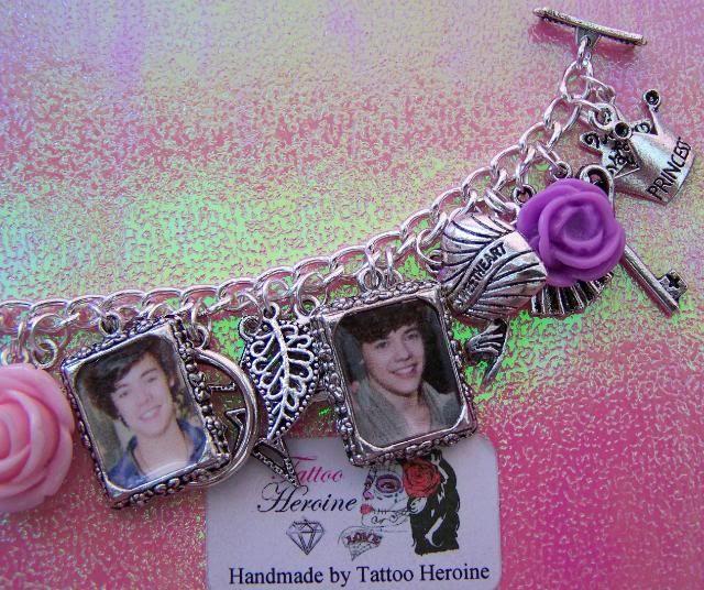 A One Direction Charm Bracelet. haha Harry looks like a little fetus. I want this!!