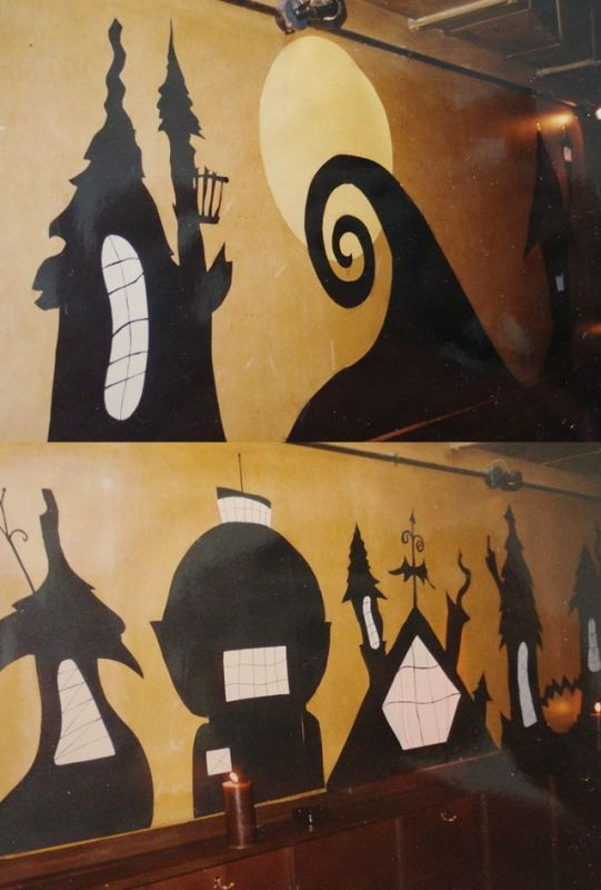 tim burton halloween decorations - similar window cutouts would be - decorate cubicle for halloween