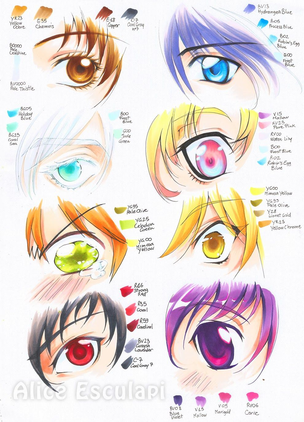 Colored manga websites - It S In A Different Language But I Still Like The Way The Eyes Are Colored