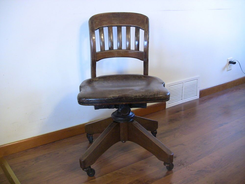 Antique industrial desk chair wood cast iron swivel chair bl marble