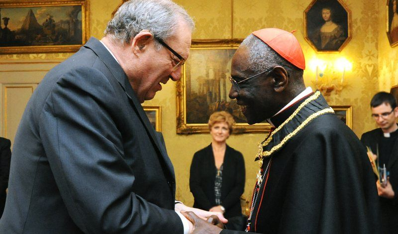 Cardinal sarah admitted to the orden de malta malta