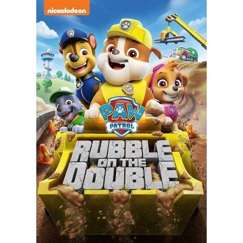 Paw Patrol Rubble On The Double Dvd In 2021 Rubble Paw Patrol Paw Patrol Paw Patrol Cartoon