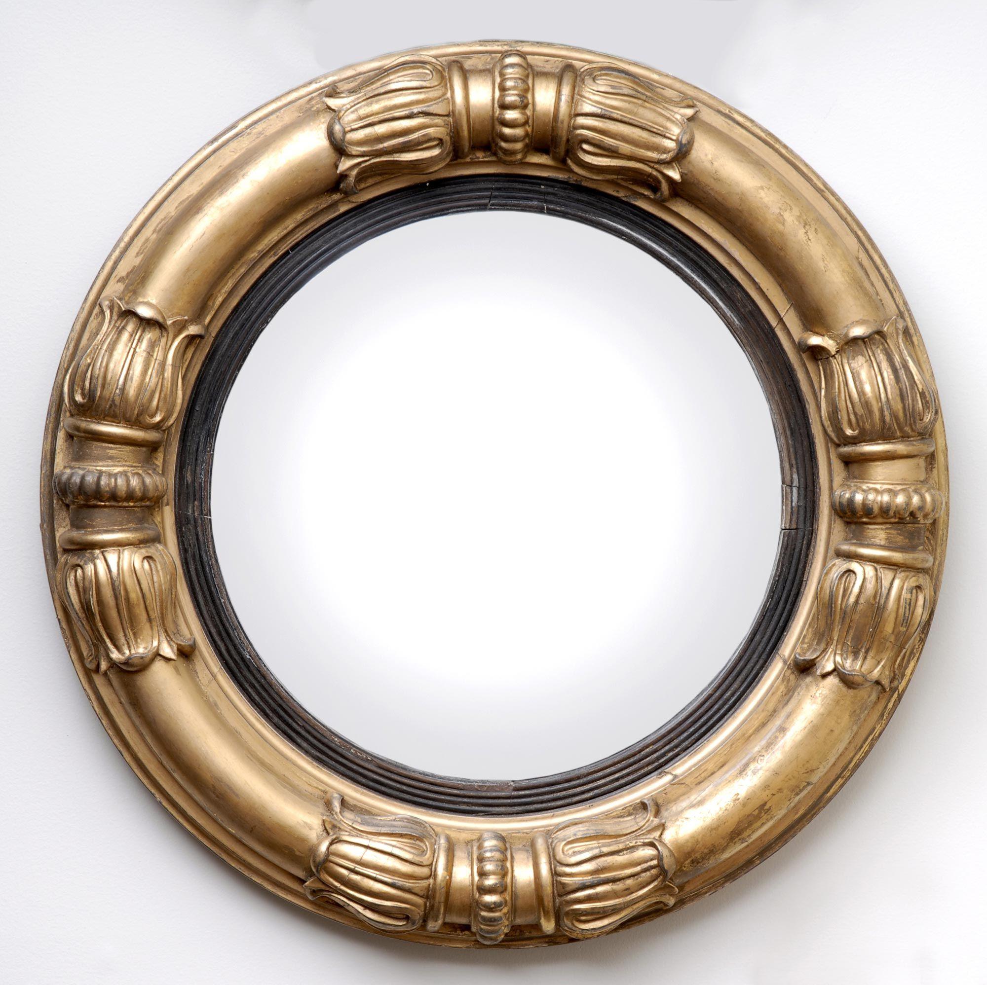Antique English William Iv Convex Mirror 1835