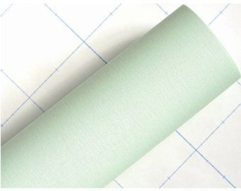 Pastel Mint Solid Color Embossing Self Adhesive PeelStick