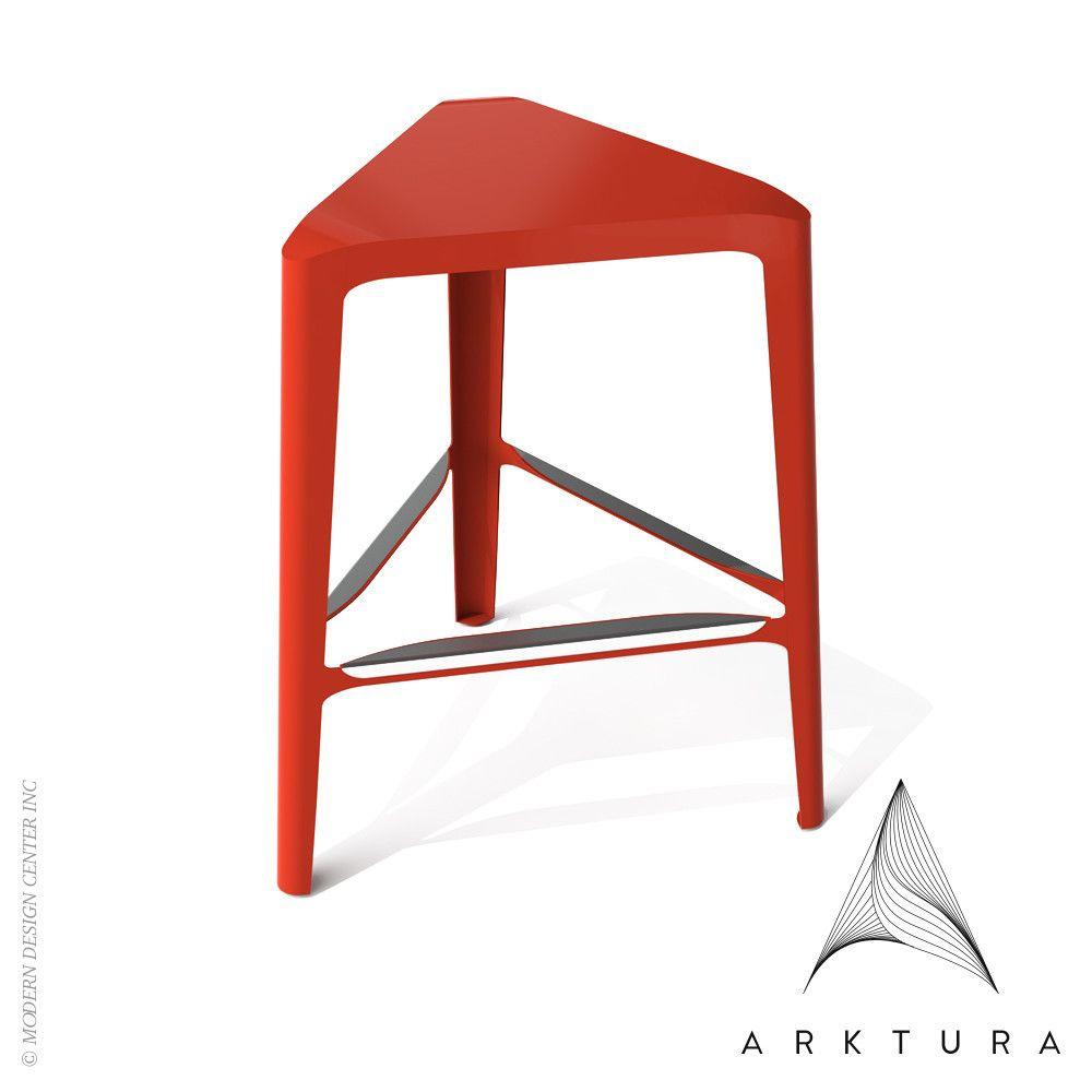 Arktura Clic Mid Stool available at LoftModern.com #red design ... - Arktura Clic Mid Stool available at LoftModern.com #red design